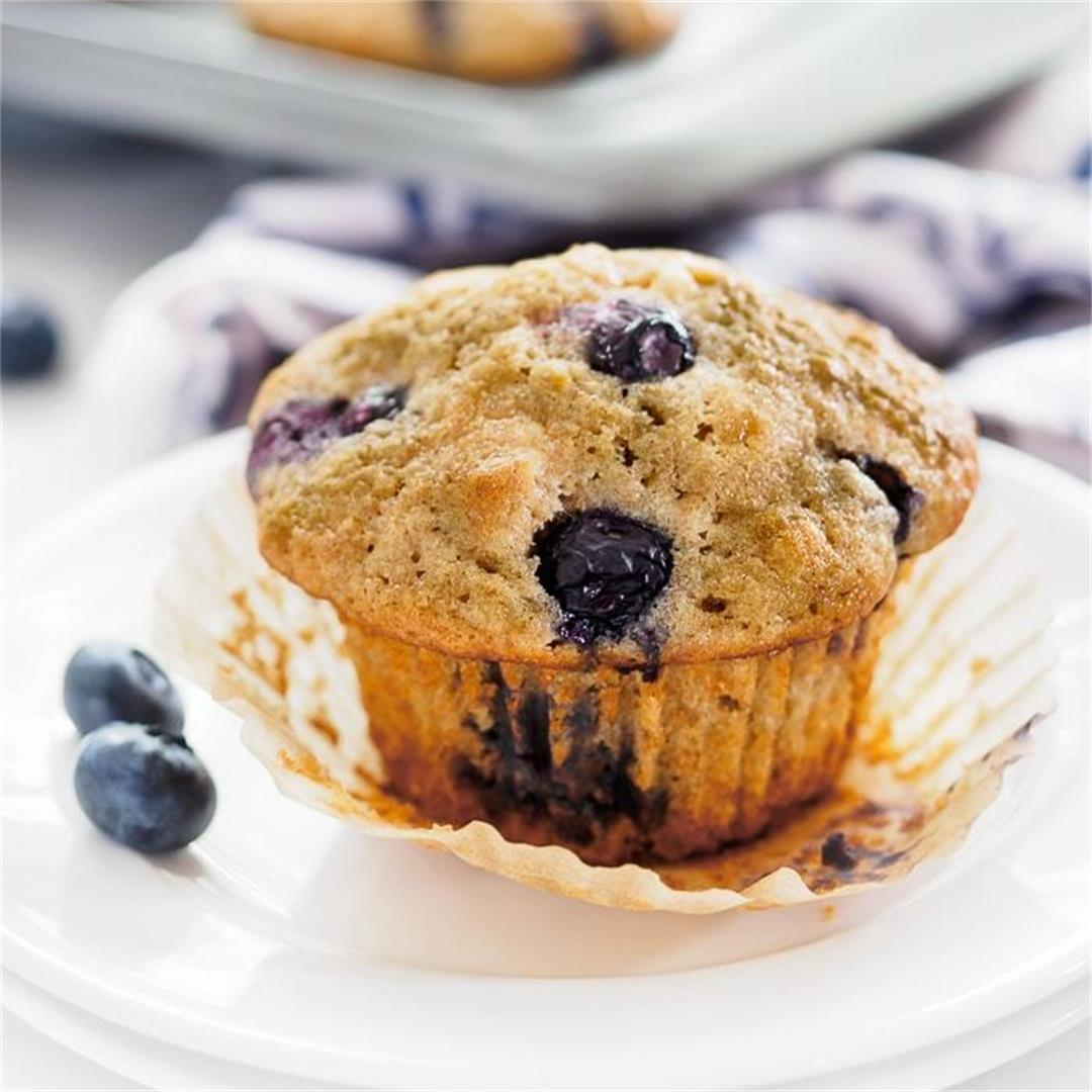 Whole Wheat Blueberry Lemon Muffins
