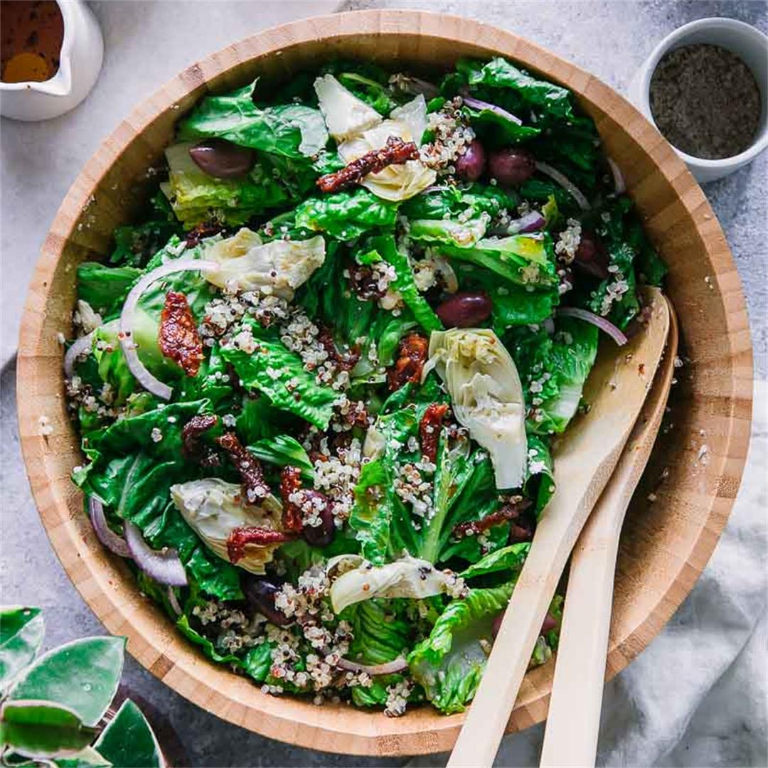 Simple Quinoa Greek Salad