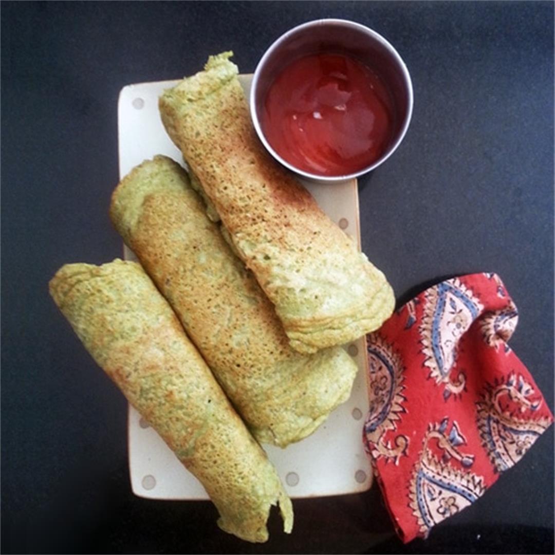 Hare Moong ka Cheela: Green Gram Pancakes