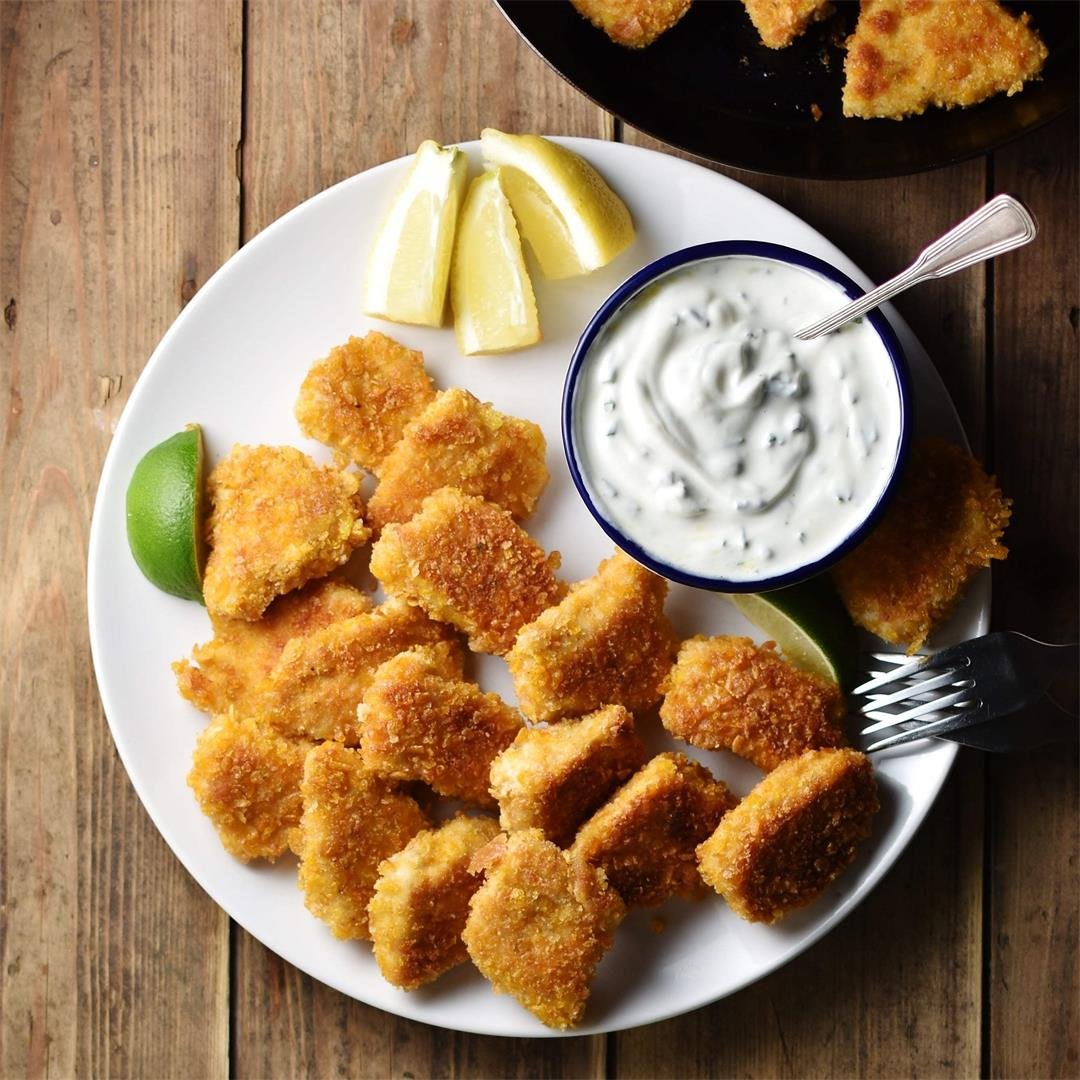 Crispy Healthy Cornflake Chicken Nuggets Recipe
