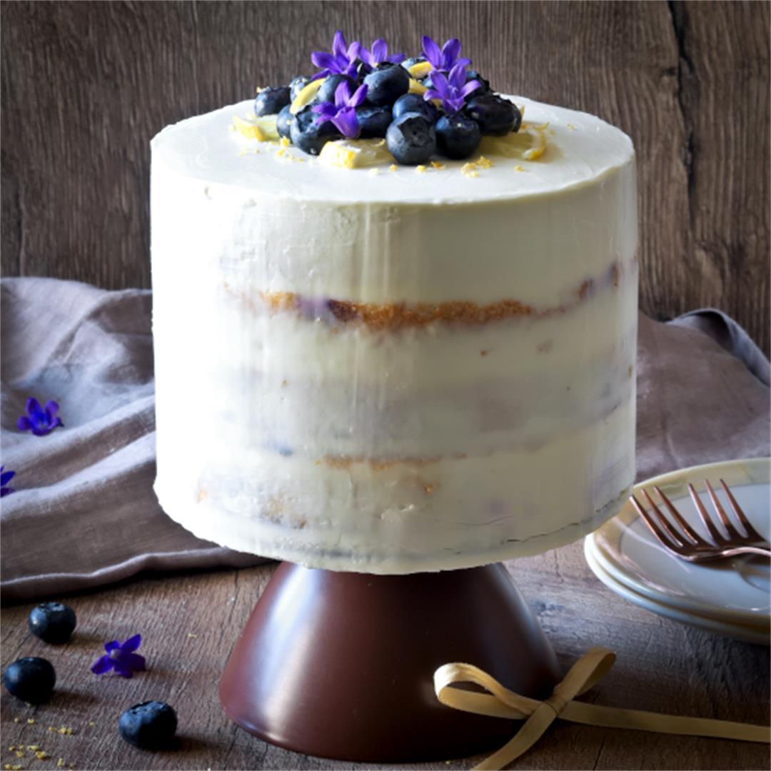 Lemon Blueberry Cake - Summer Cake