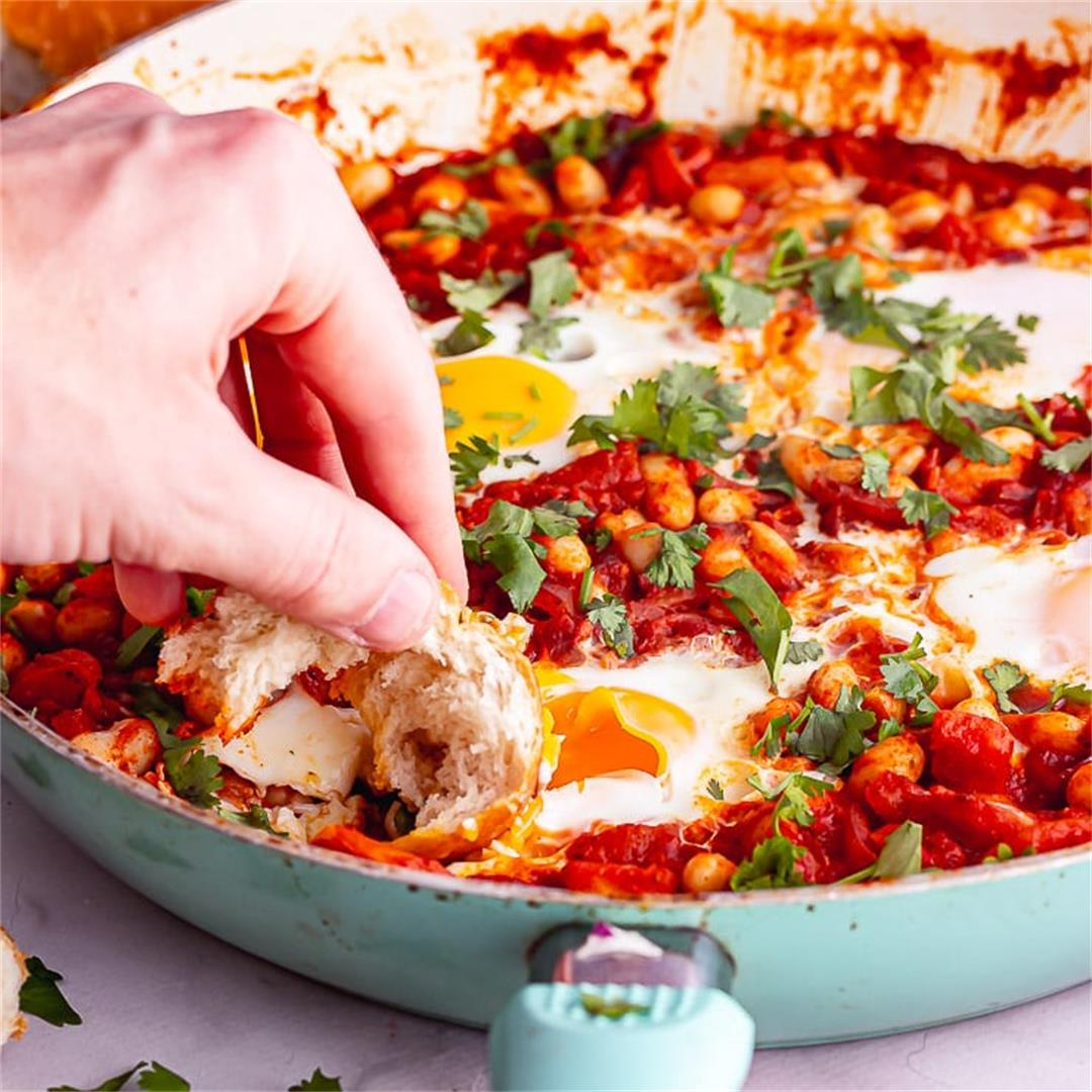Breakfast Skillet with Spicy Beans • The Cook Report
