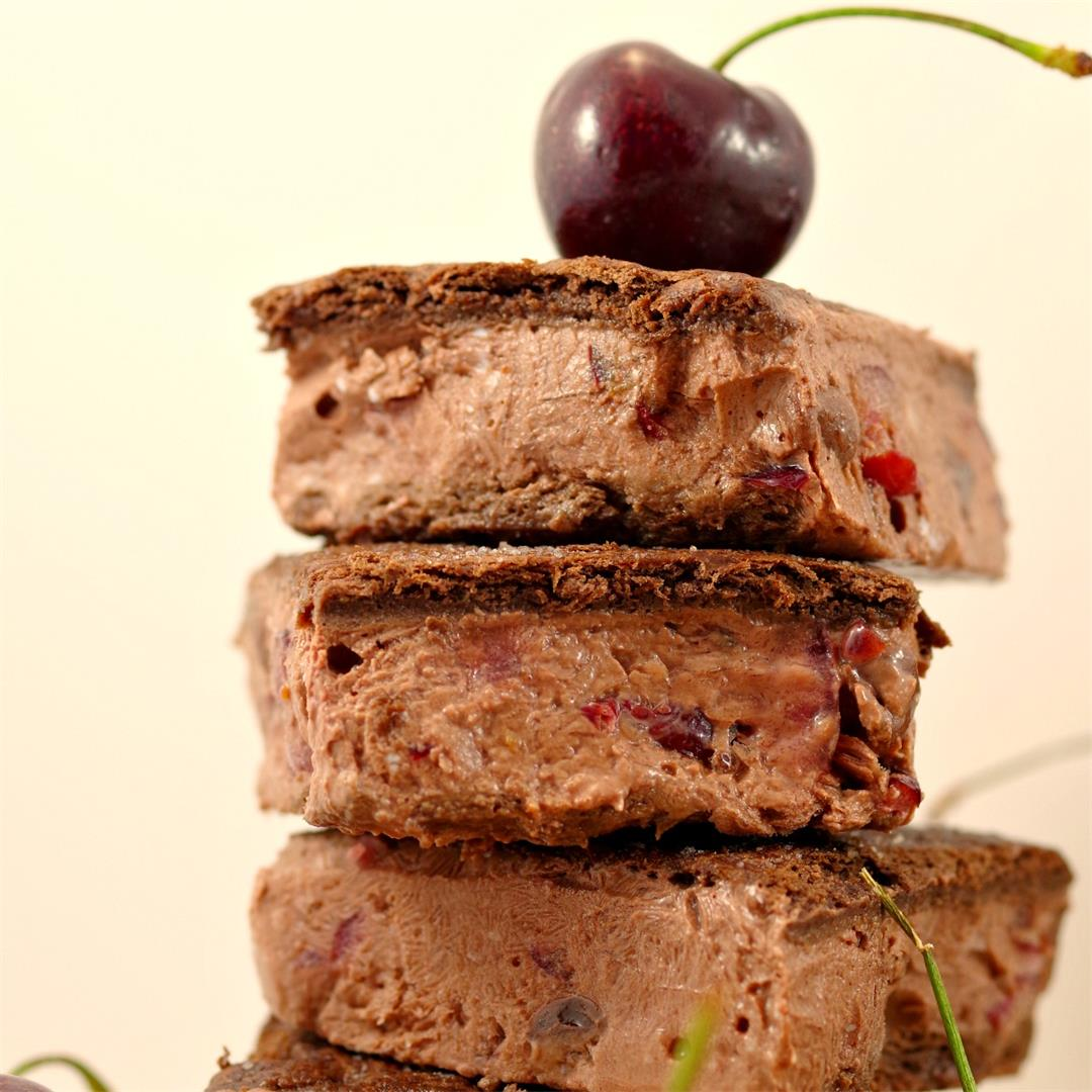 Weight Watchers Black Forest Ice Cream Sandwiches