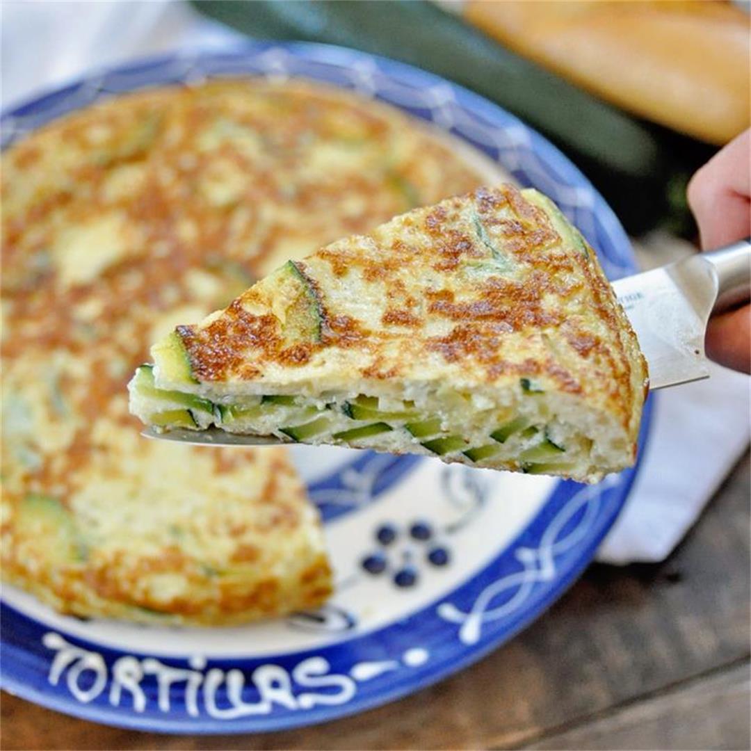 Spanish Tortilla with Zucchini & Onions