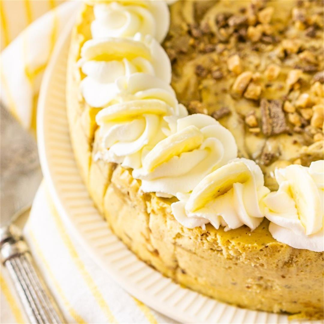 Toffee-Bananas Foster Cheesecake