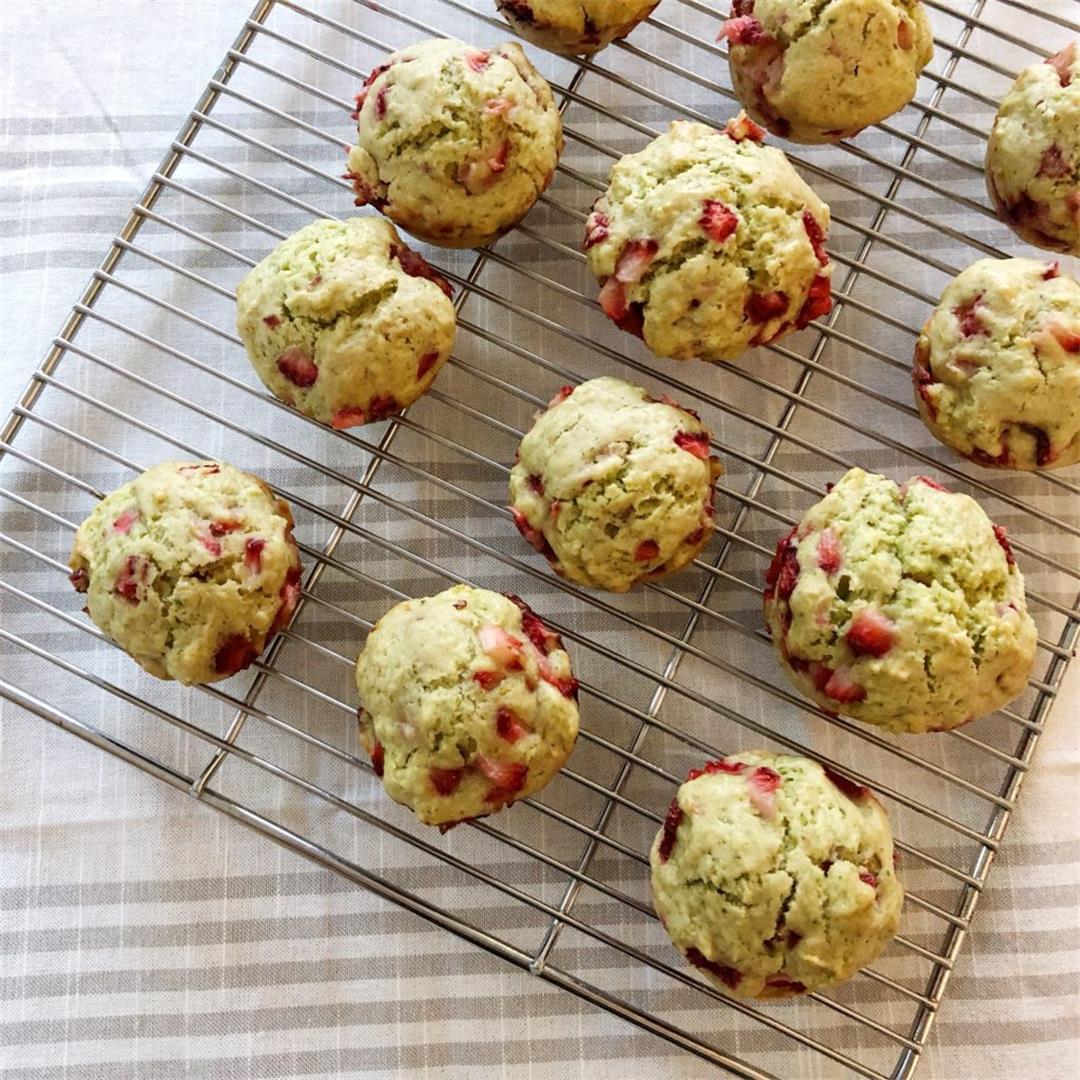 Strawberry Basil Muffins