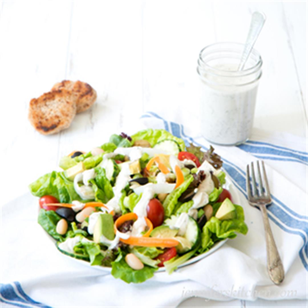Power Salad with Vegan Dressing