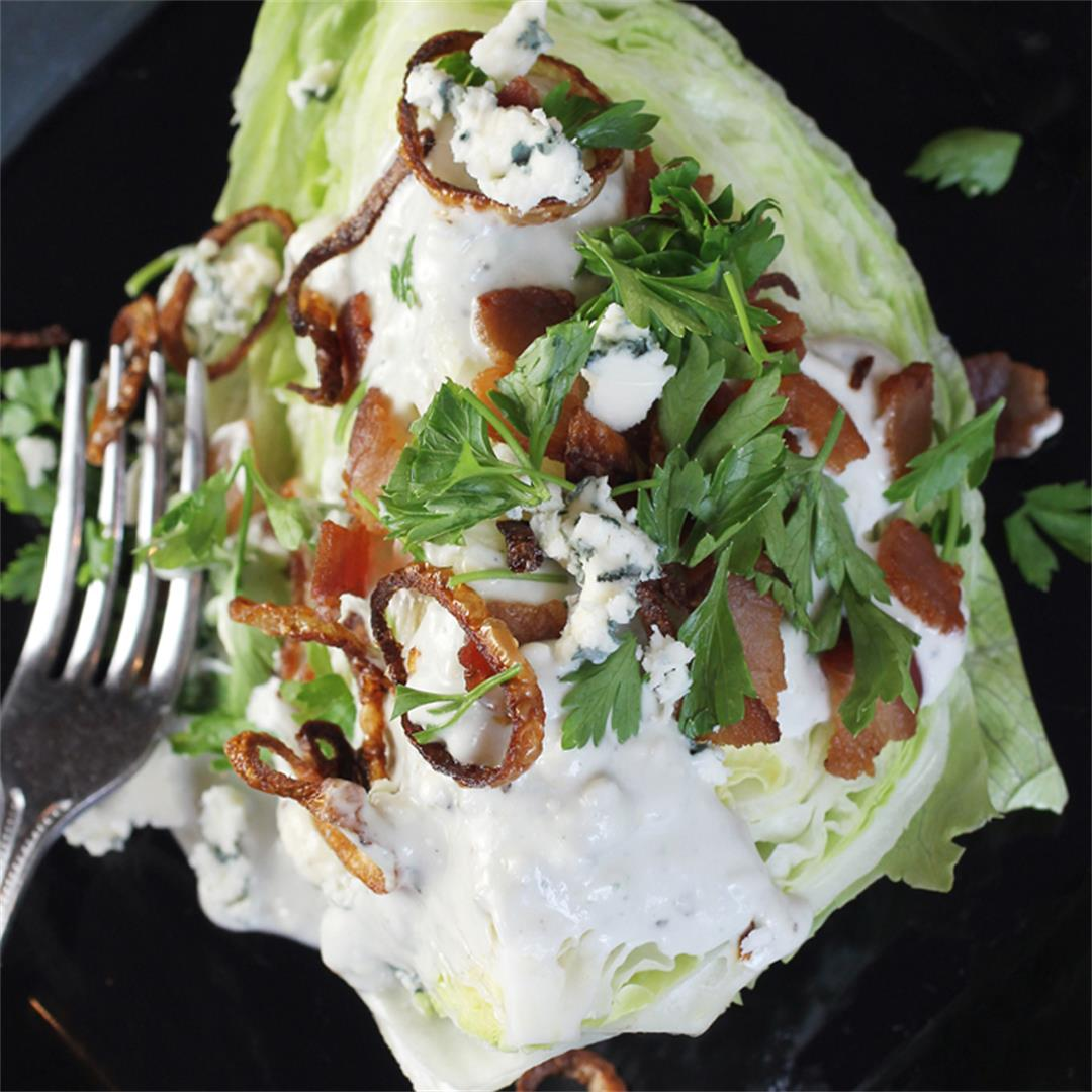Wedge Salad with Stilton and Pancetta for #BourdainDay