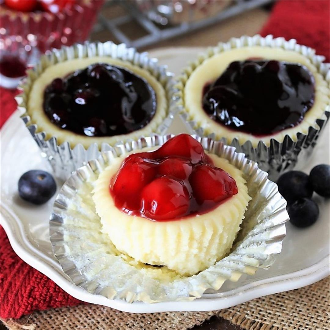 Red White & Blue Mini Cheesecakes