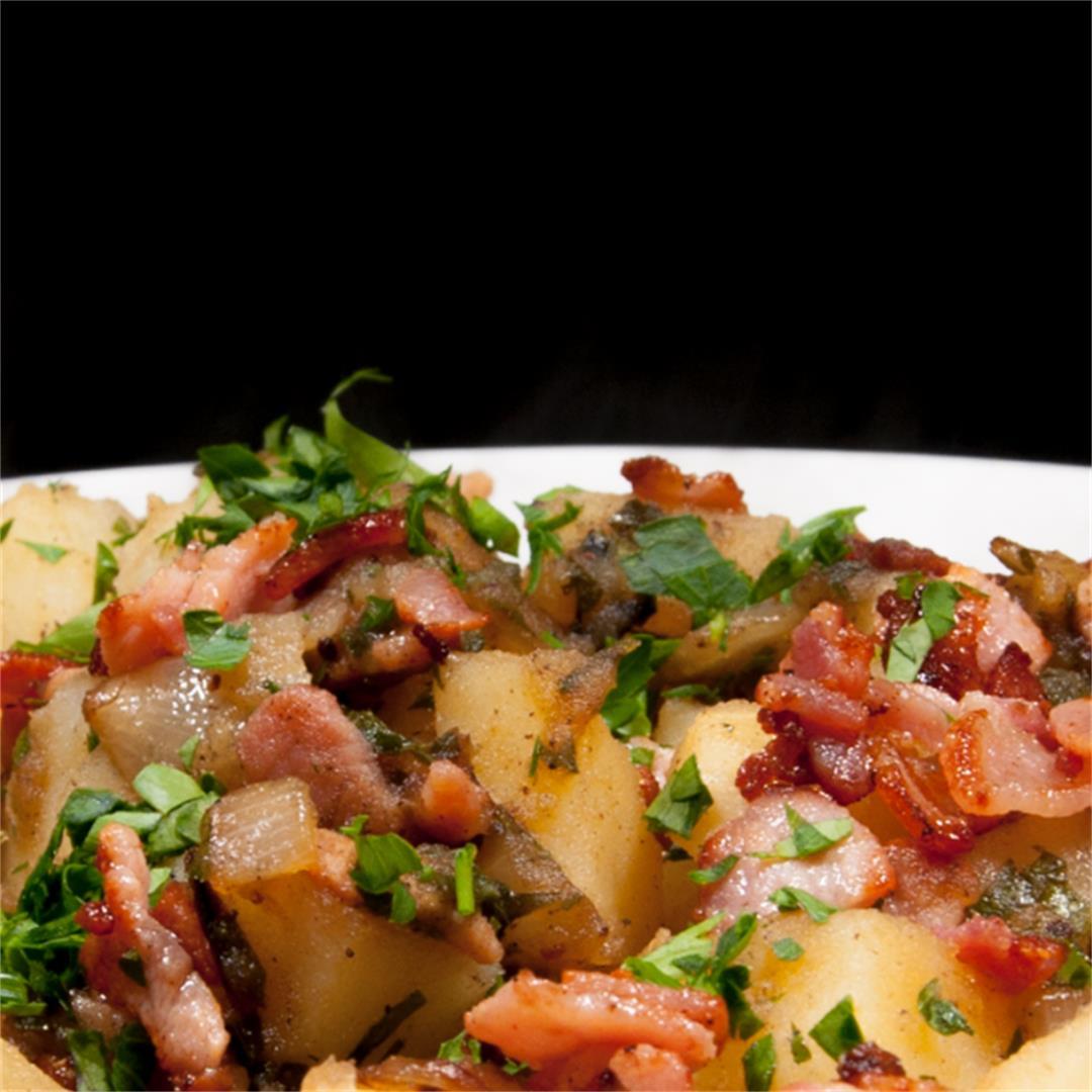 Classic Bavarian Potato Salad With Bacon