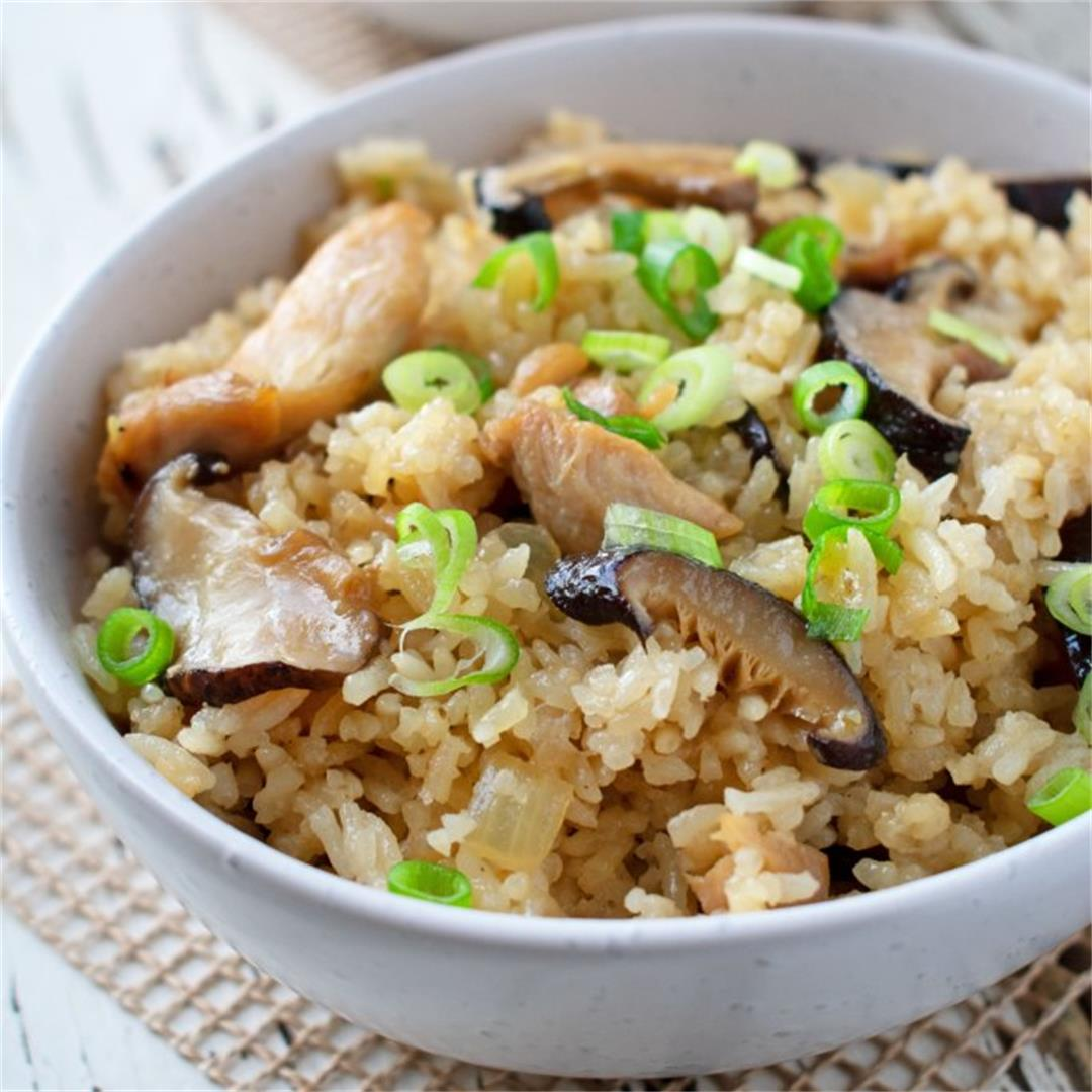 Easy Chicken and Mushroom Rice