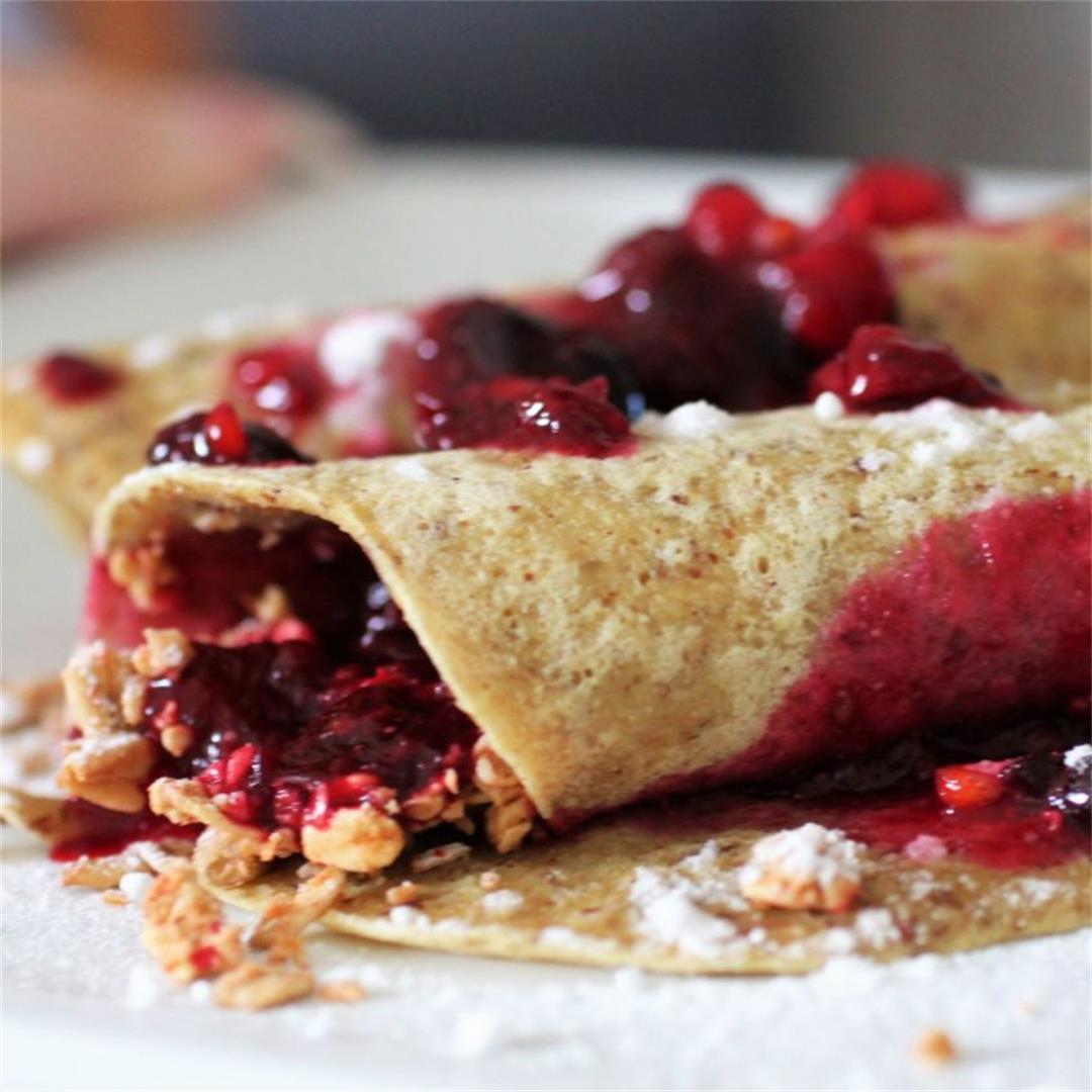 Berry Breakfast Vegan Crepes Recipe