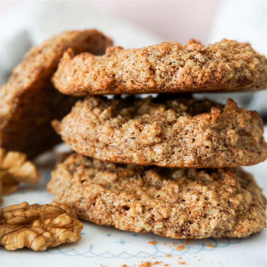 BEST Walnut Cookies (GLUTEN FREE & only 3 Ingredients)