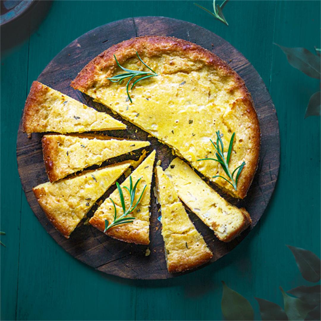 Paraguayan Cheese and Onion Cornbread - Sopa Paraguaya