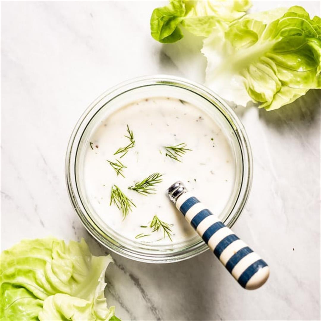 5-Minute Greek Yogurt Salad Dressing Recipe