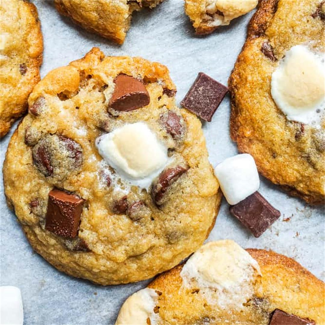 Easy Chewy S'mores Cookies Recipe