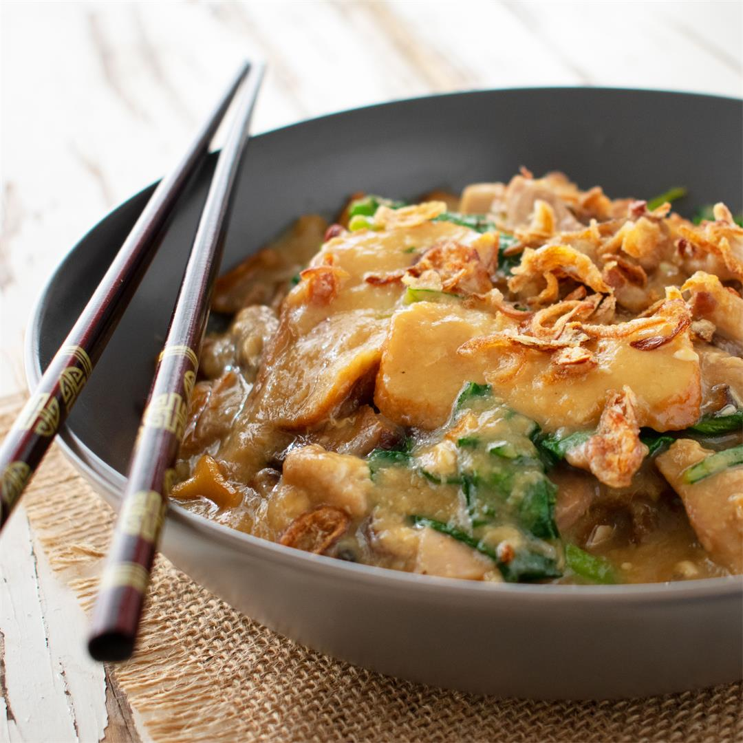 Rice Noodles in Egg Gravy