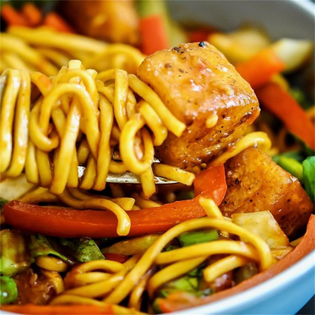 Sweet Chilli Halloumi Noodles
