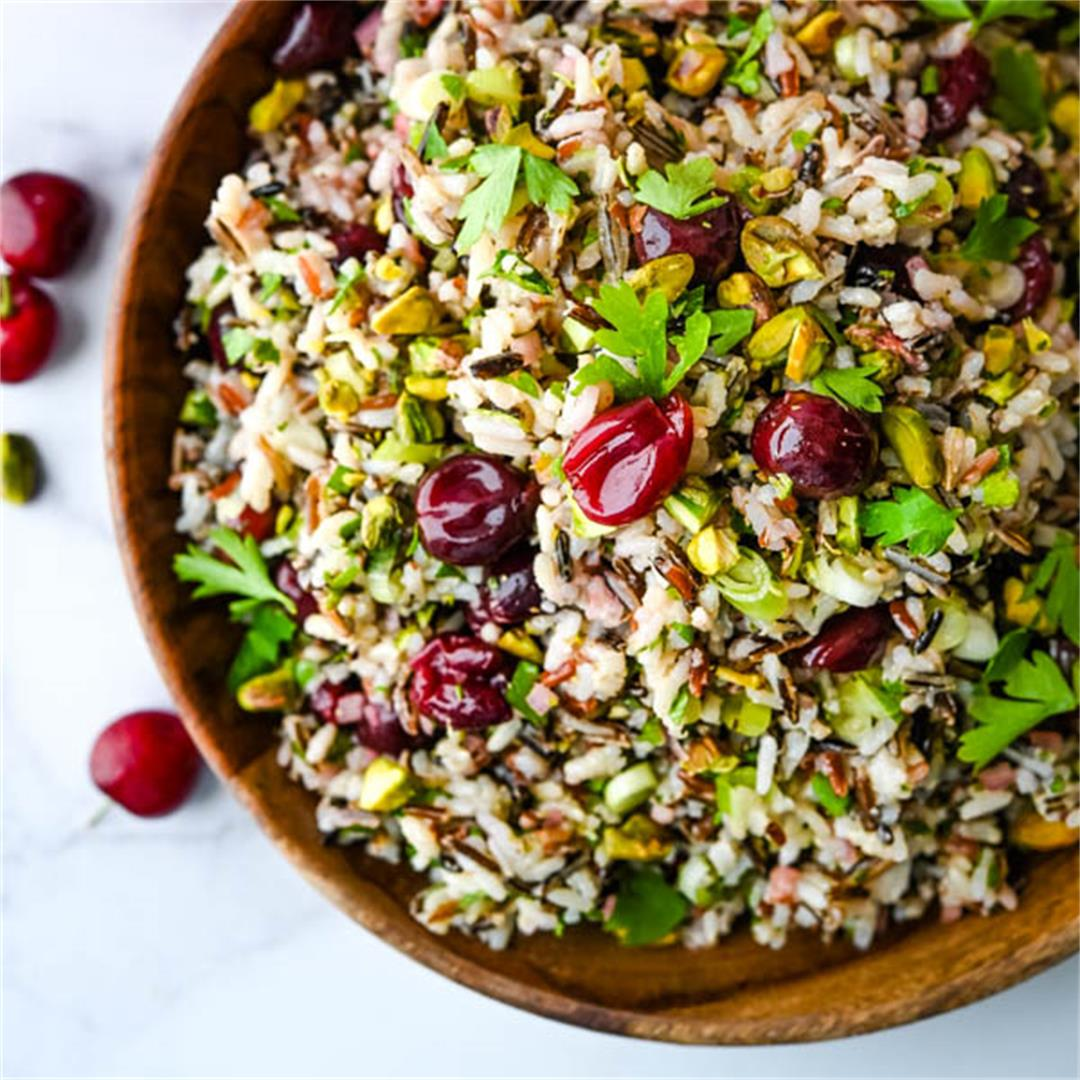 Savory Pickled Cherry Cold Rice Salad