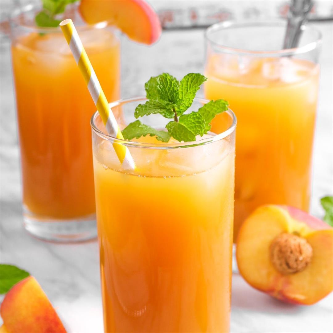 Simple Peach Iced Tea