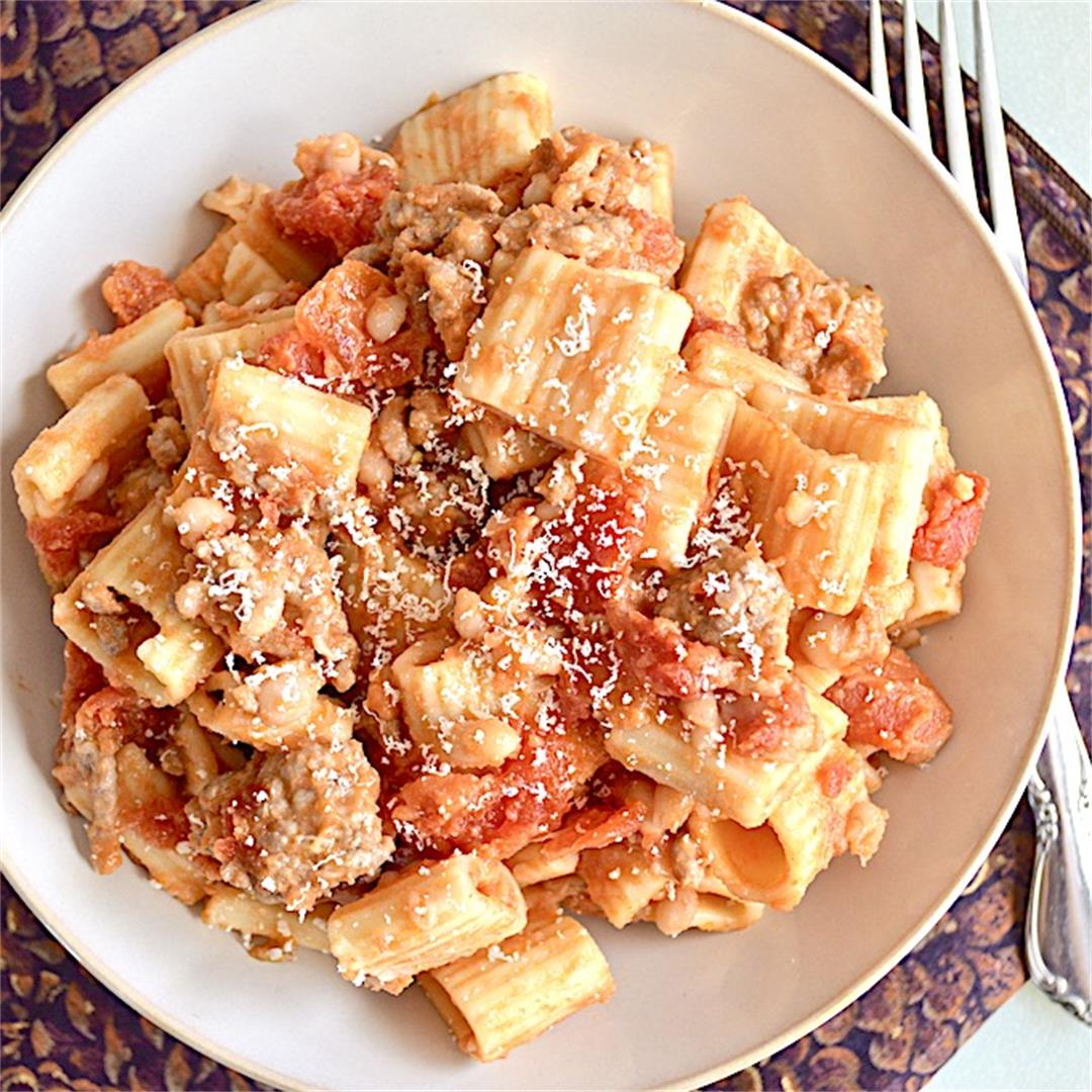 Pork and Beans Pasta - Jeanie and Lulu's Kitchen
