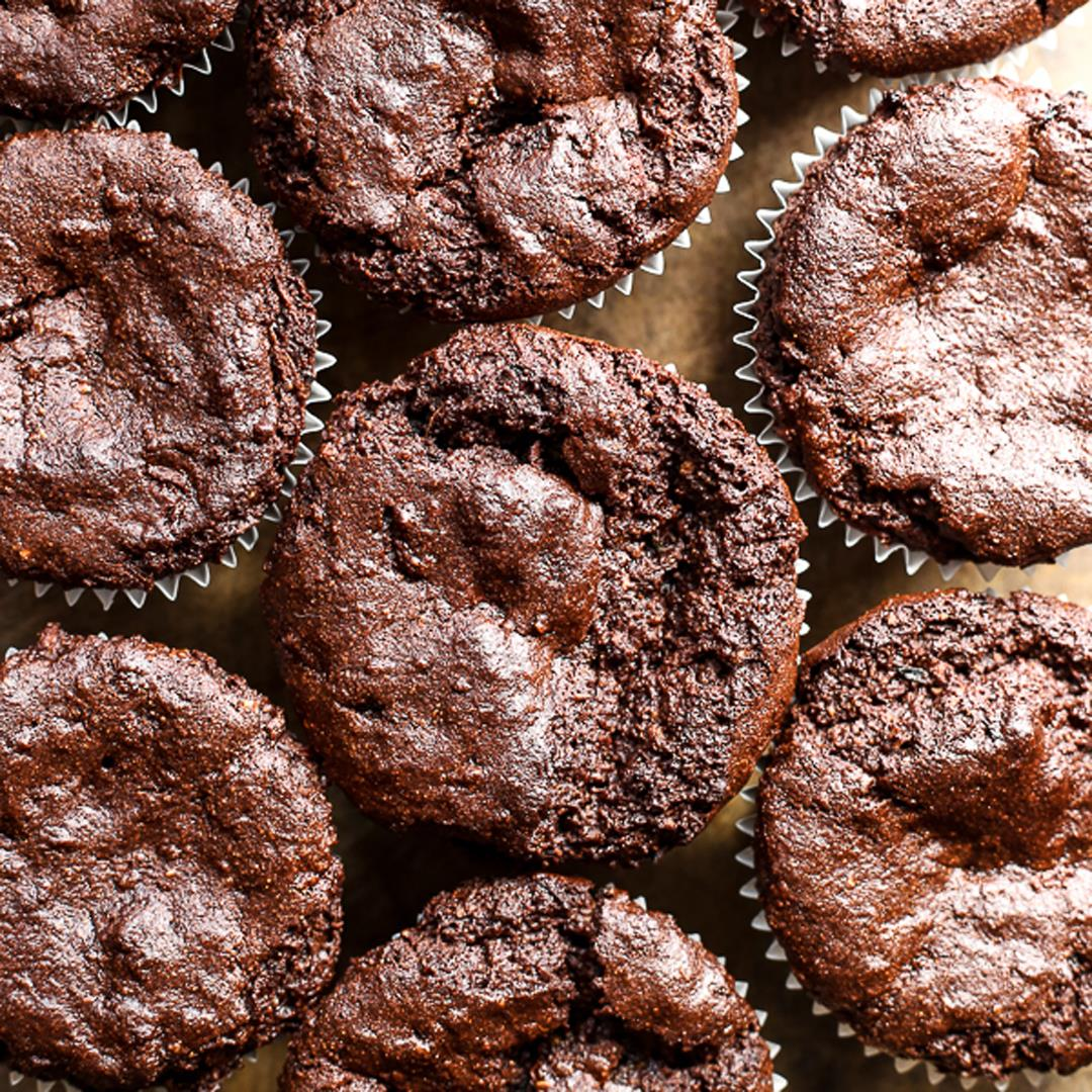 Chocolate Courgette Muffins {gluten-free, vegan}