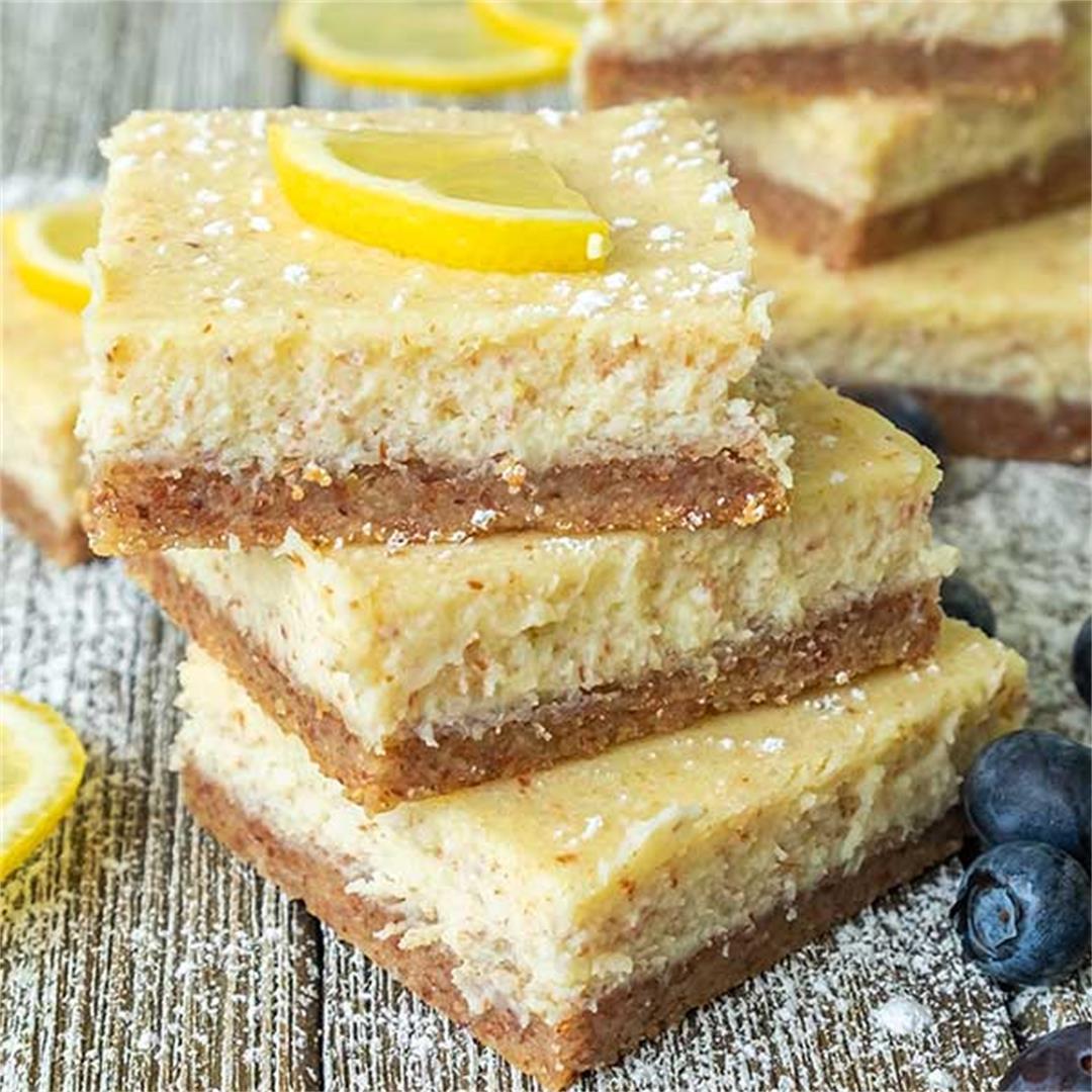 Keto Cream Cheese Lemon Bars (Gluten-Free)