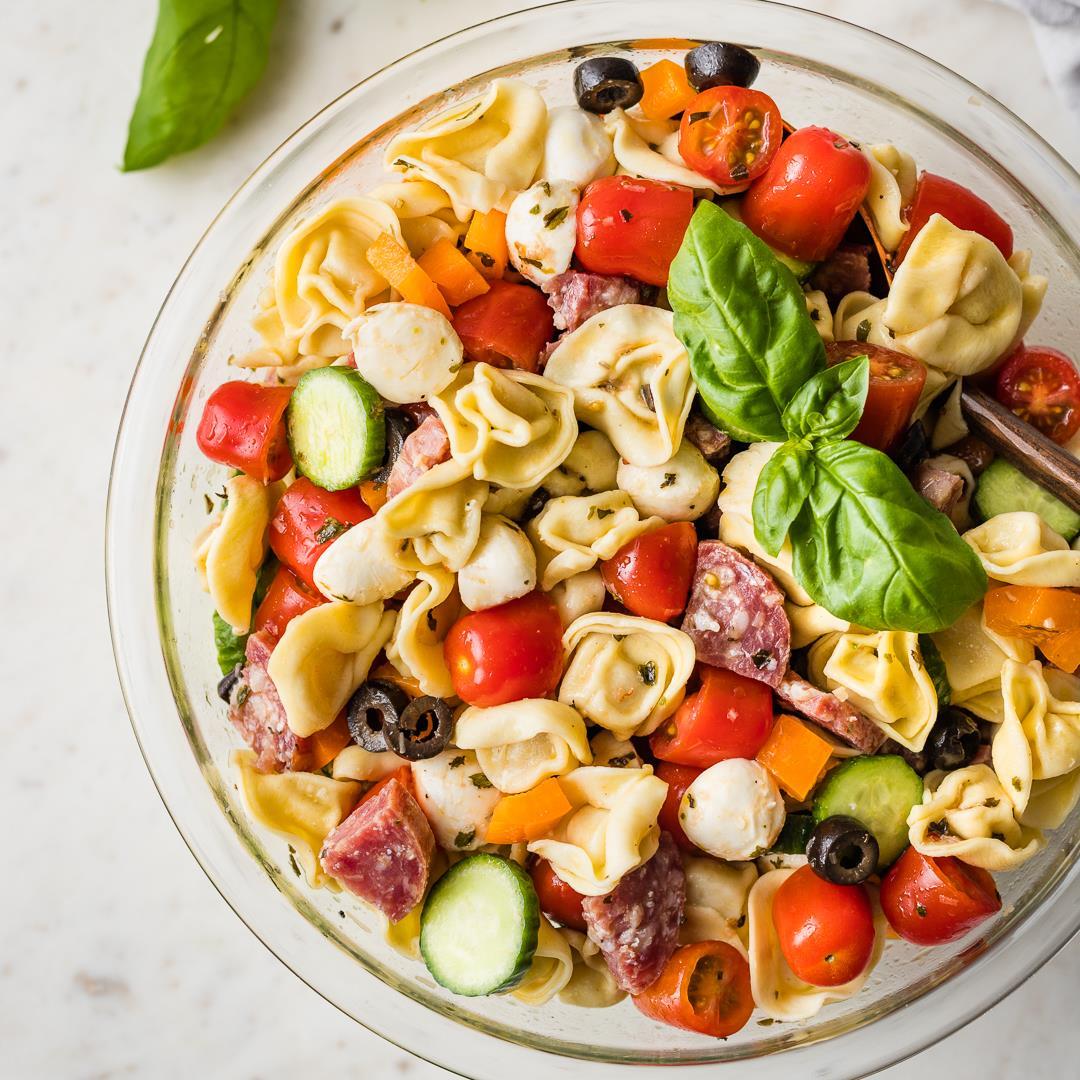 Cheesy Tortellini Italian Pasta Salad