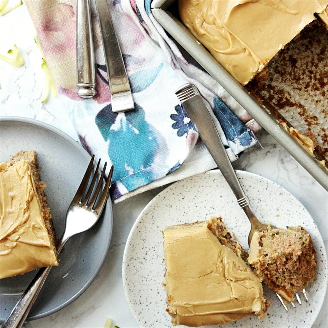 Best Zucchini Cake Recipe with Brown Sugar Icing