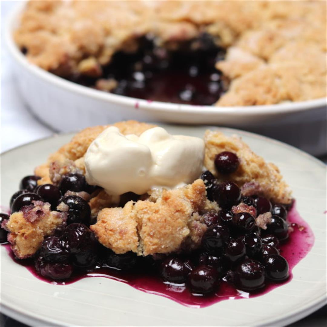 My Favorite Blueberry Cobbler