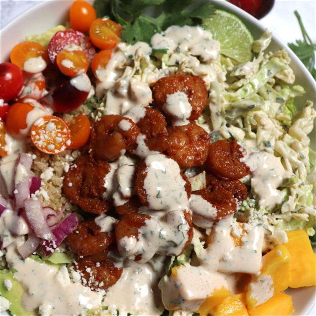 Healthy California Shrimp Taco Bowls