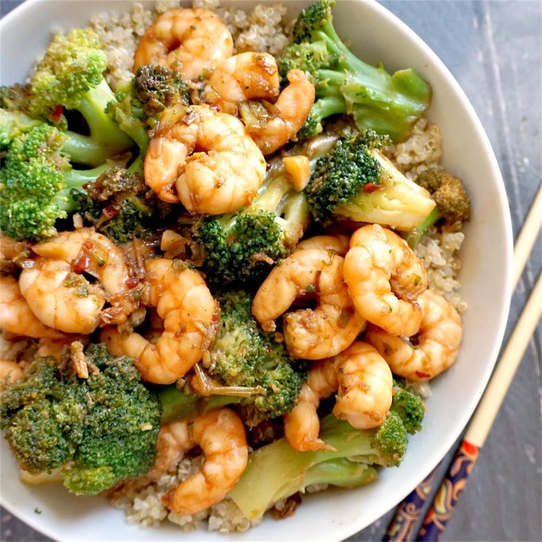 Healthy Honey Garlic Shrimp with Broccoli