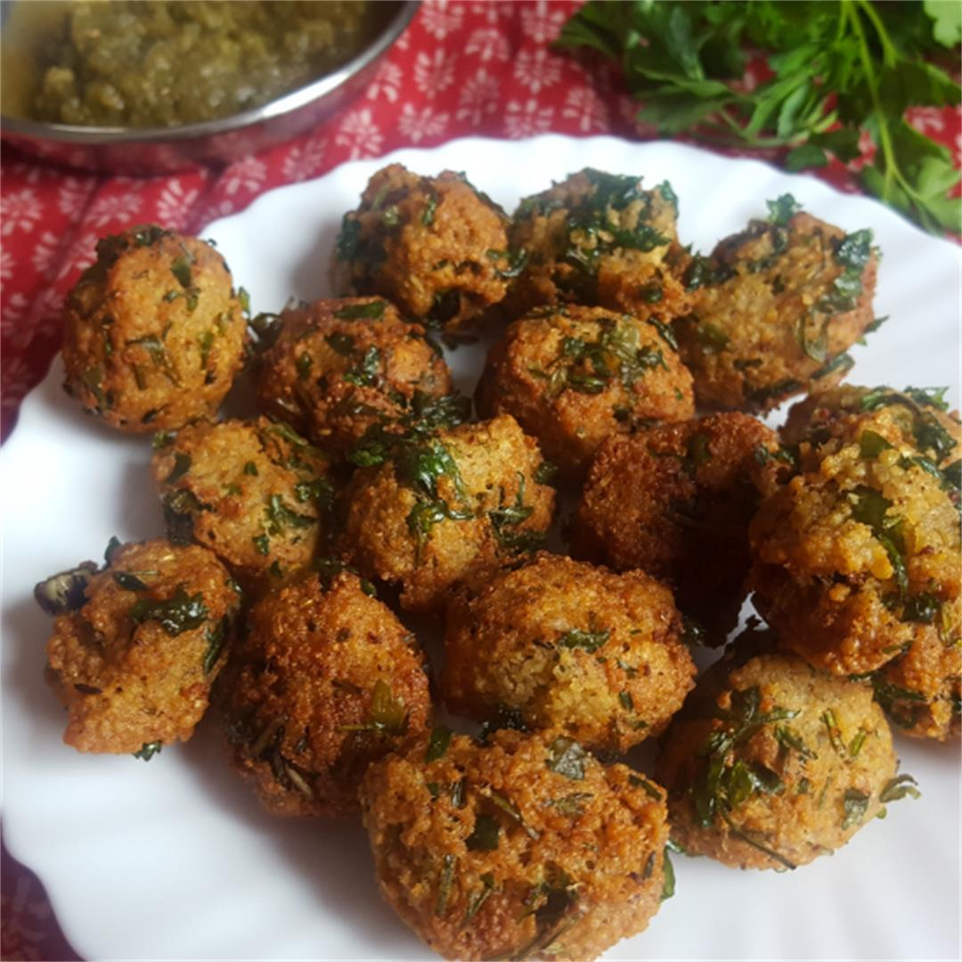 Middle Eastern Couscous fritters...easy vegan snack