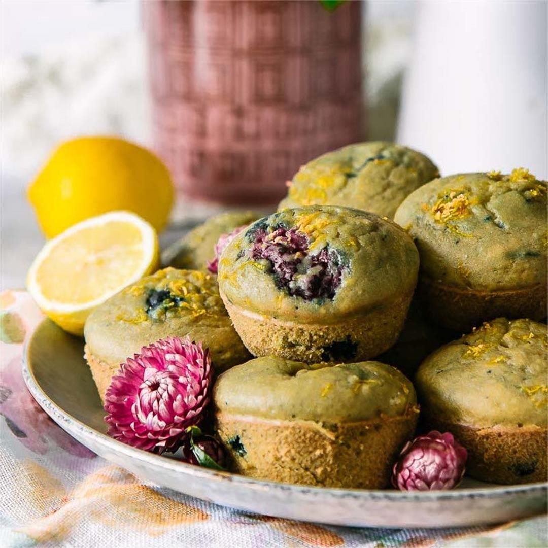 Lemon Berry Cornmeal Muffins (Dairy-Free)