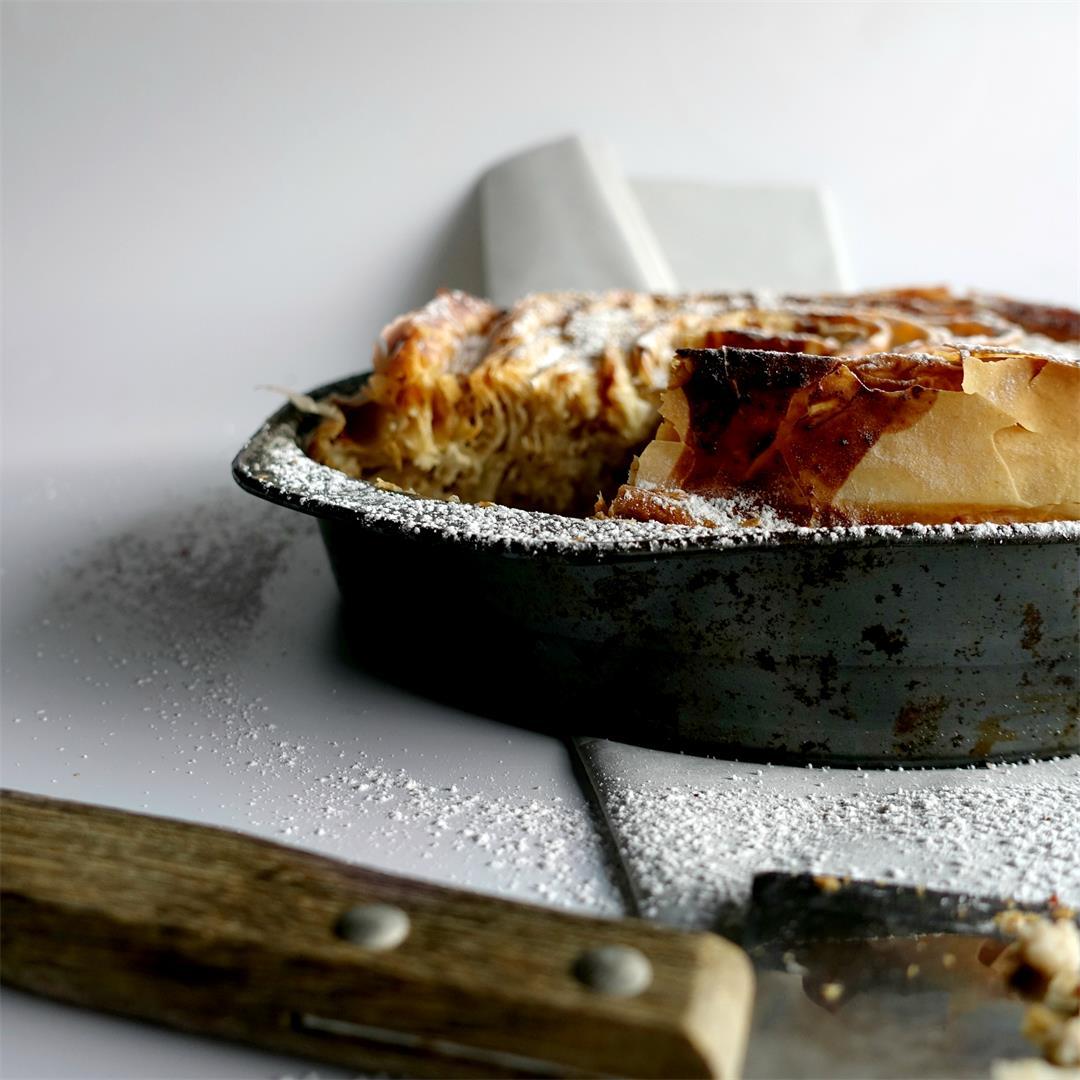 Custard Apple Ruffled Pie