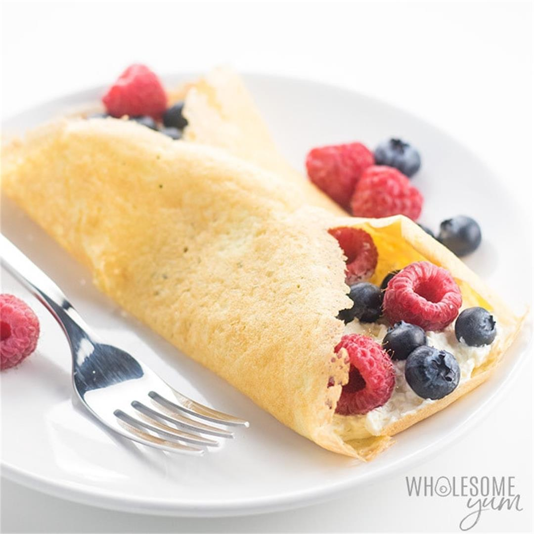 Gluten-free Keto Crepes Recipe with Almond Flour