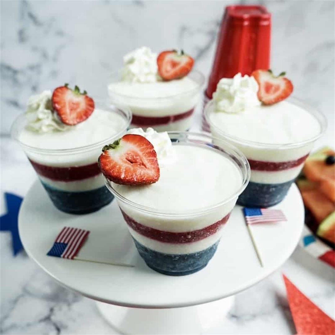 Stars and Stripes Frozen Yogurt Cups