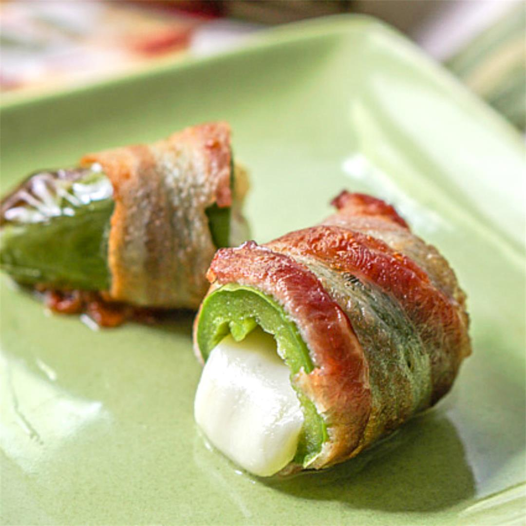 Keto Bacon Wrapped Jalapeños in the Air Fryer
