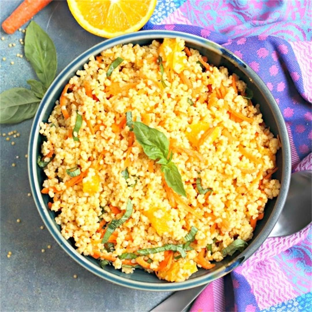 Grain Salad with Orange, Carrots, and Basil