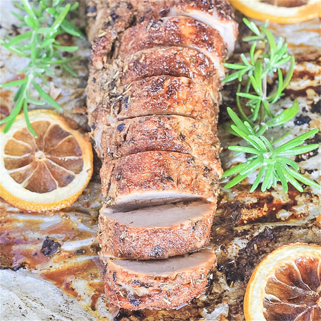 Baked Pork Tenderloin {Whole30, Paleo, Grain Free}