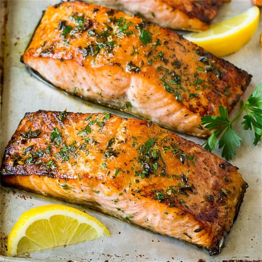 Broiled Salmon Fillets