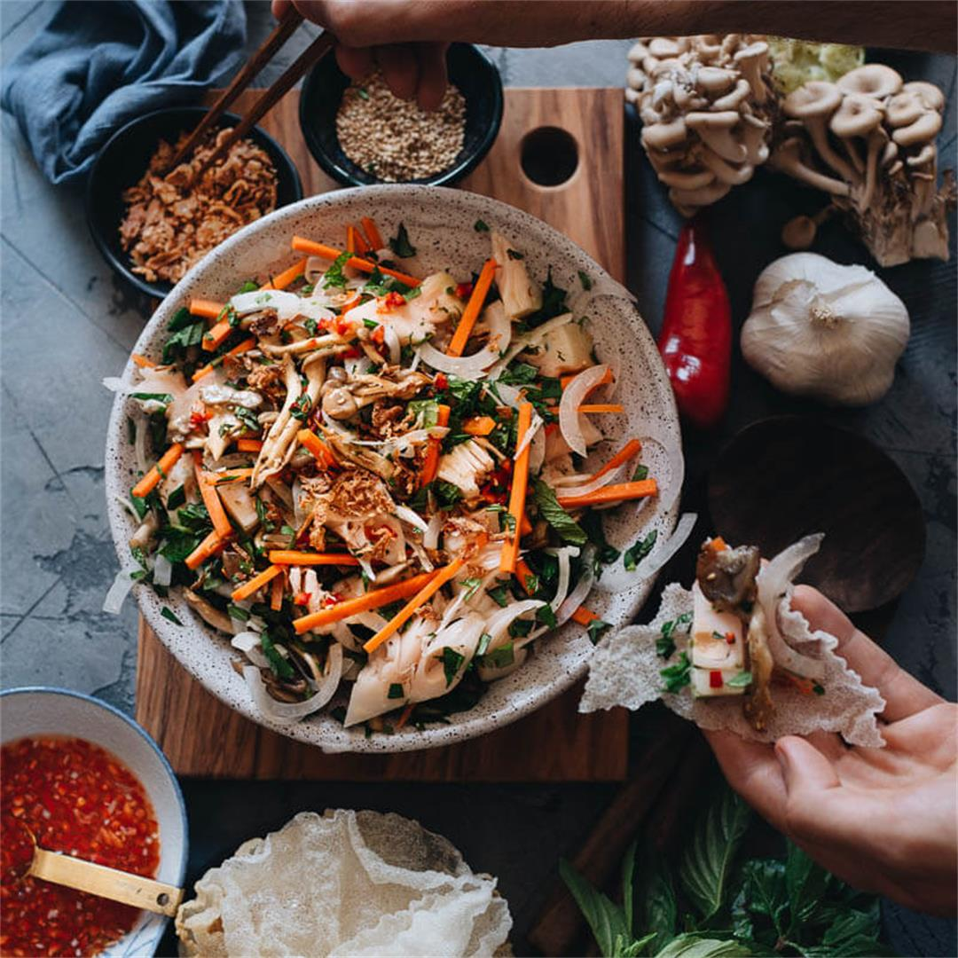 Vegan Vietnamese Jackfruit Salad