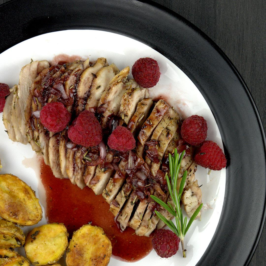 Rosemary Chicken with Raspberry Glaze – A Gourmet Food Blog
