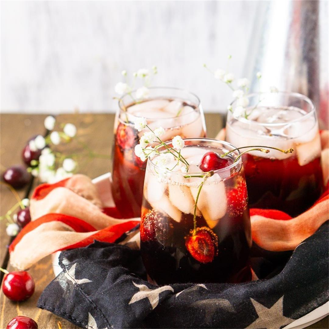 Cherry Vodka Sparkler Cocktail