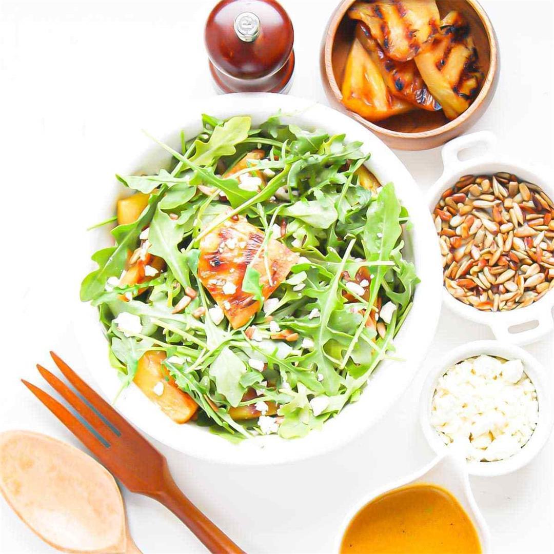 Arugula Pineapple Salad • A Scrumptious Bite