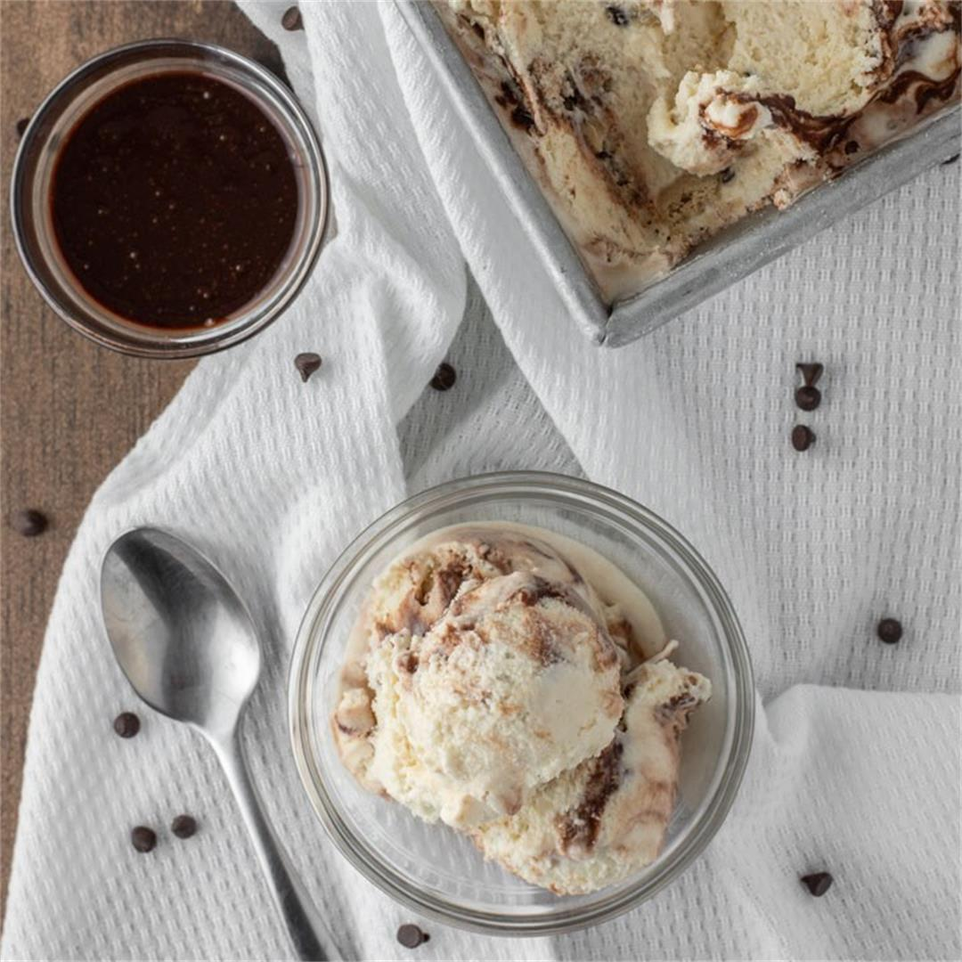 Malted Cookie Dough Ice Cream