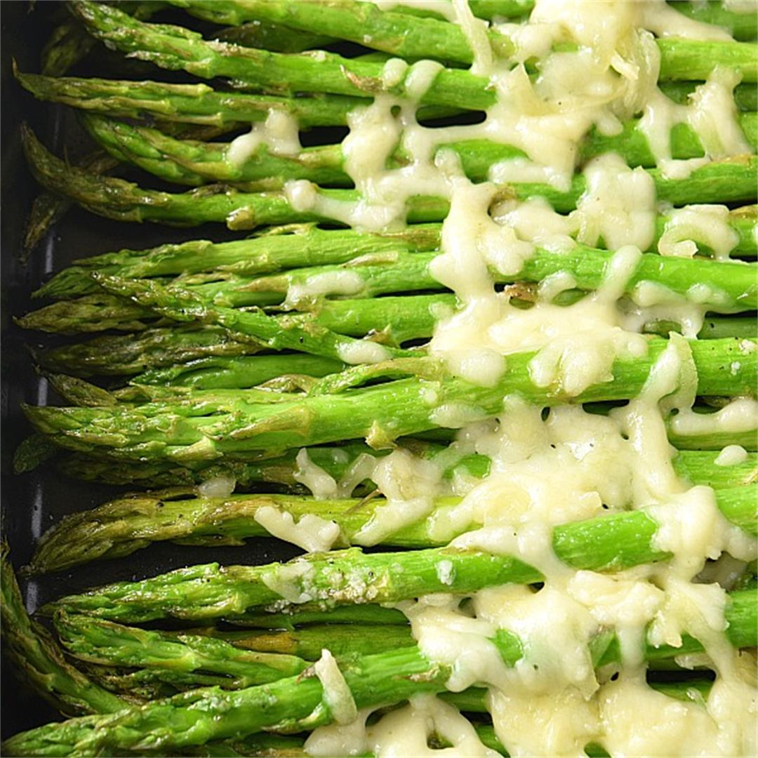 Roasted Cheesy Asparagus:Only 4 Steps