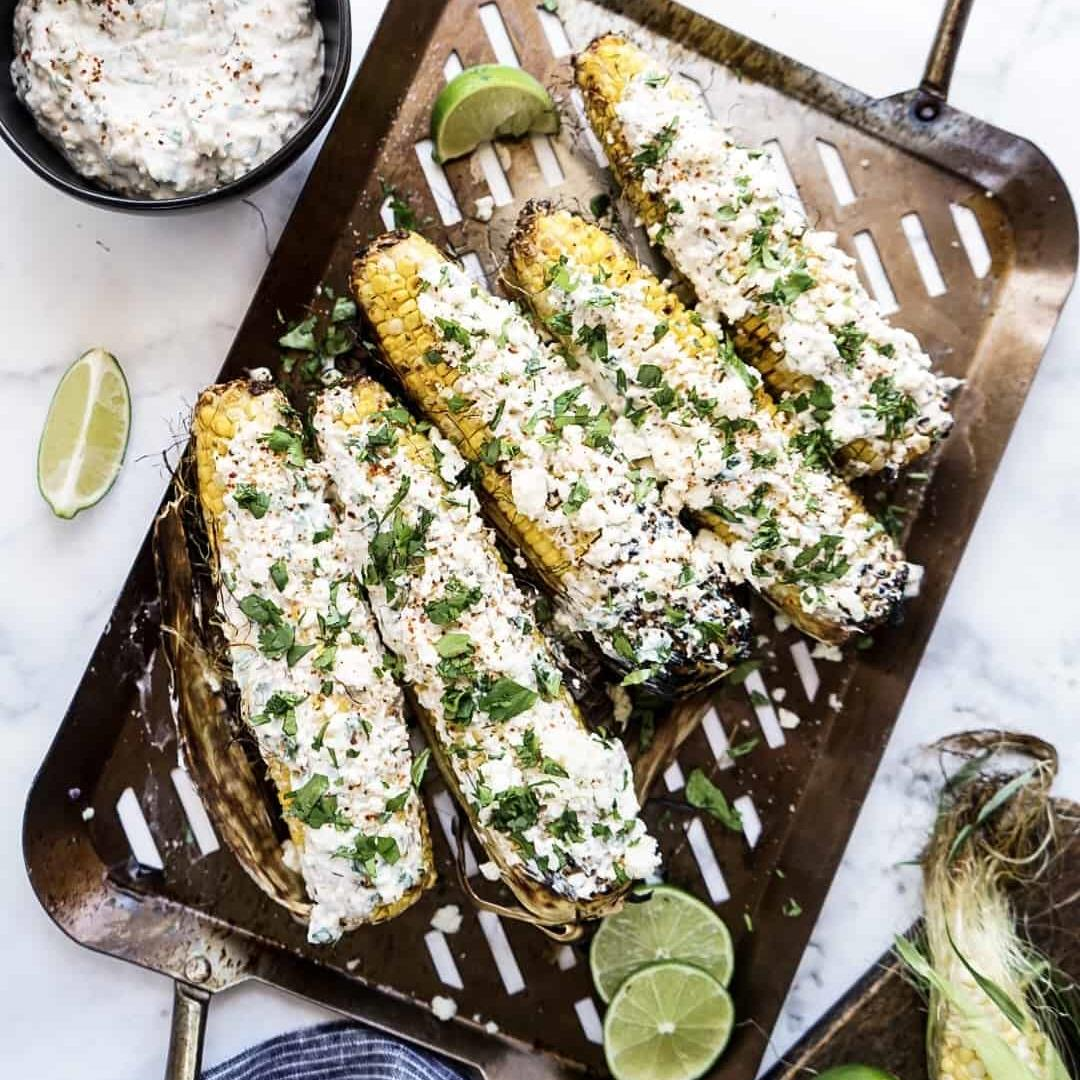 Healthy Grilled Mexican Street Corn