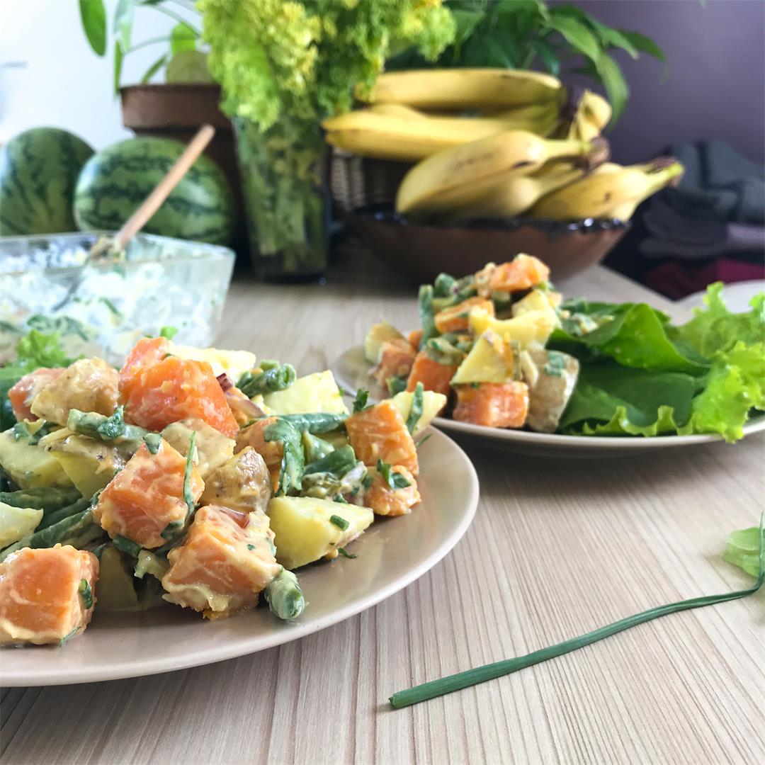 Dual Potato Creamy Salad (Vegan)