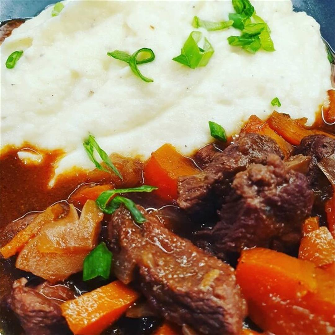 Keto Red Wine Beef Stew
